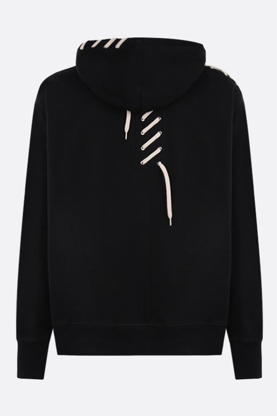 CRAIG GREEN: lace-embellished cotton hoodie Color Black_2