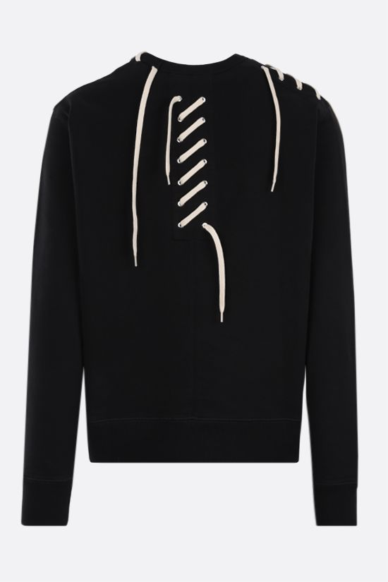 CRAIG GREEN: lace-embellished cotton sweatshirt Color Black_2