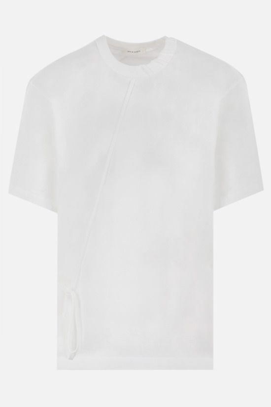 CRAIG GREEN: lace-embellished cotton t-shirt Color White_1