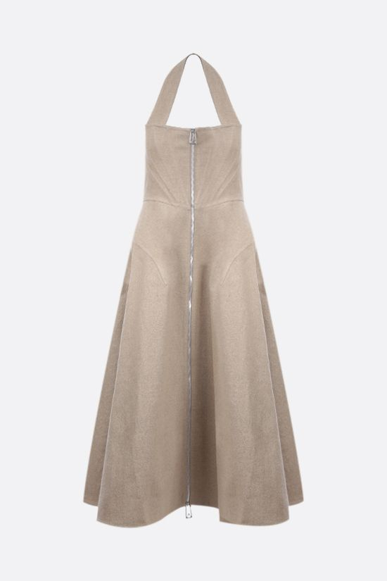 BOTTEGA VENETA: stretch linen sleeveless dress Color Neutral_1