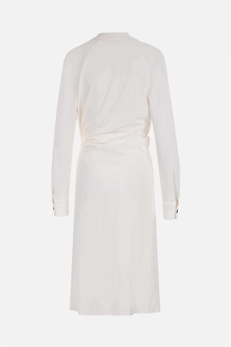 BOTTEGA VENETA: jersey crepe shirt dress Color White_3