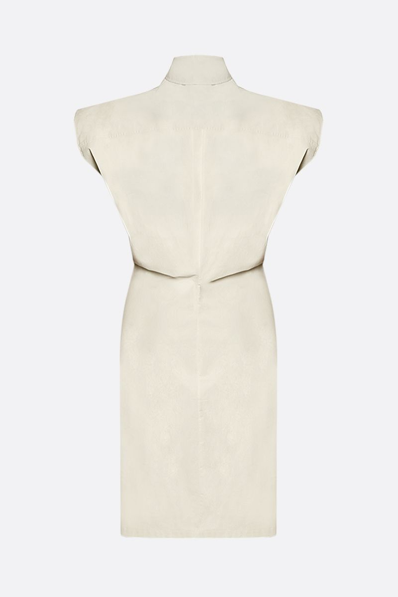BOTTEGA VENETA: coated canvas shirt dress Color White_2