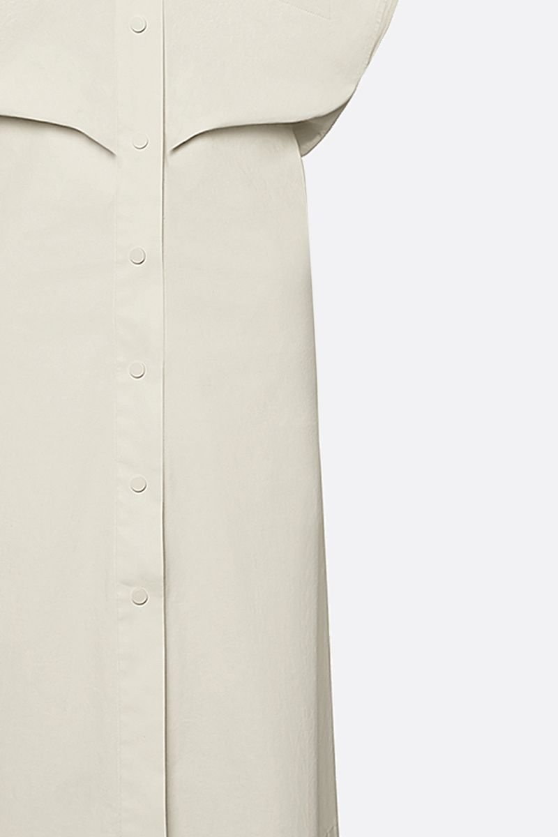 BOTTEGA VENETA: coated canvas shirt dress Color White_3