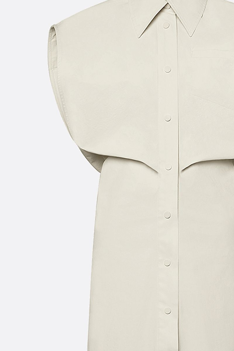 BOTTEGA VENETA: coated canvas shirt dress Color White_4