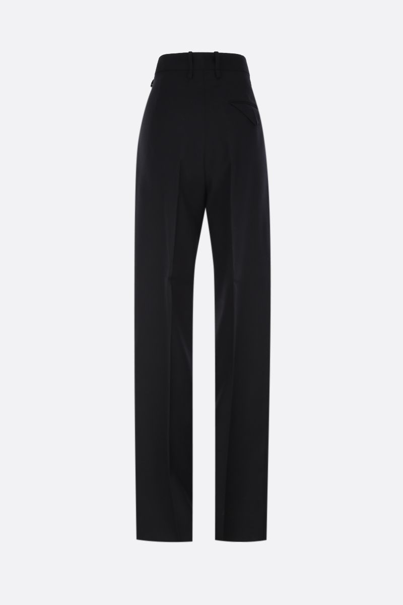 BOTTEGA VENETA: regular-fit pants in wool gabardine Color Black_2