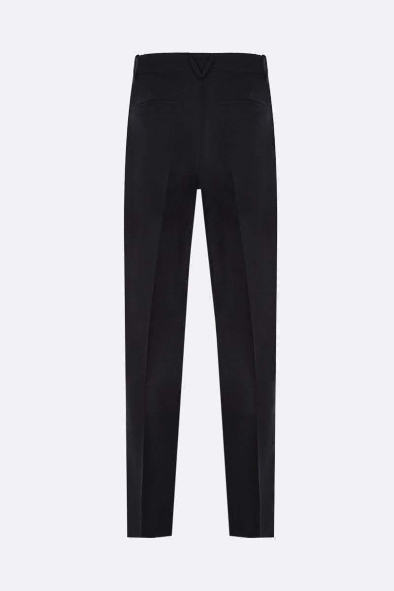 BOTTEGA VENETA: straight-fit mohair wool blend pants Color Black_2