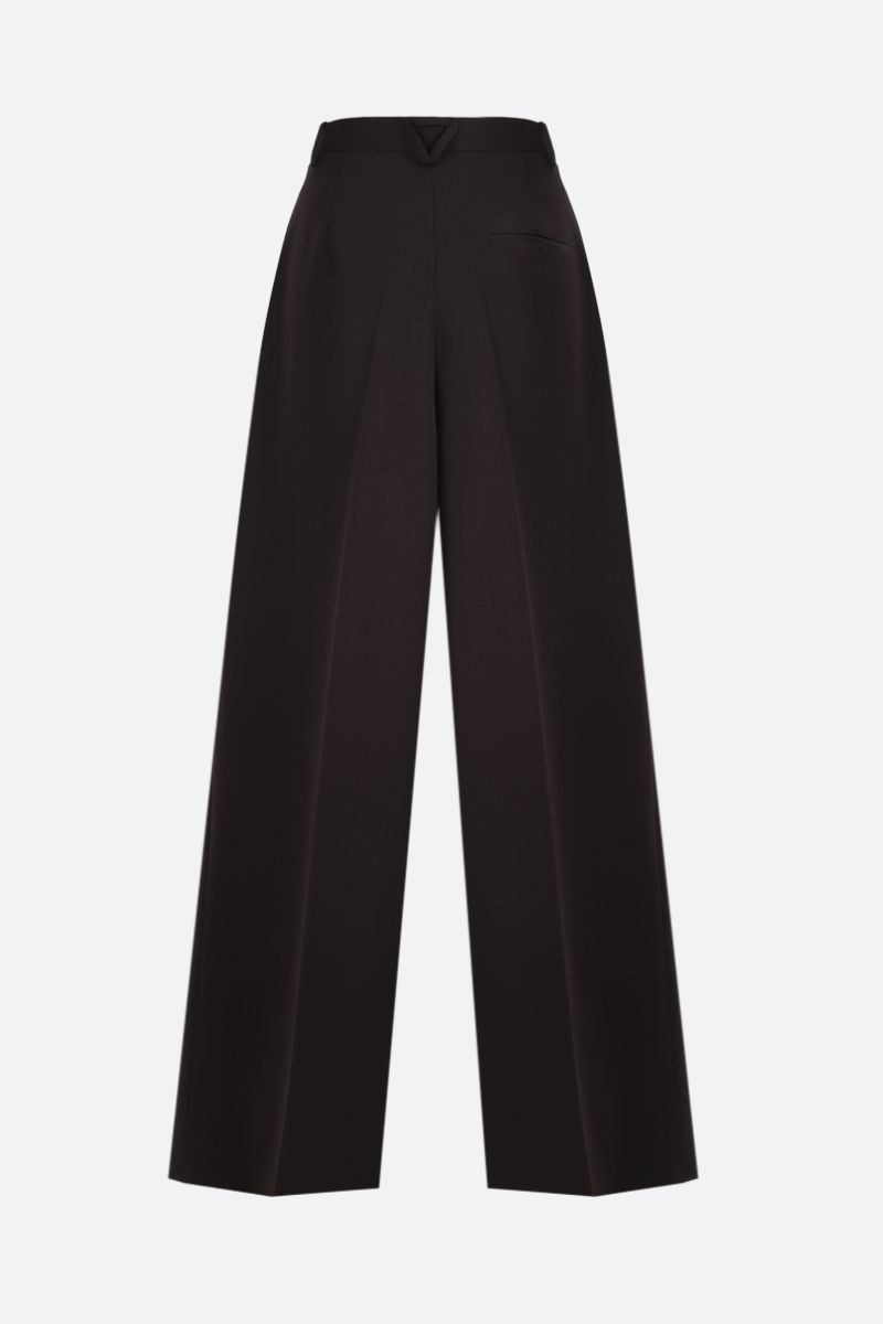 BOTTEGA VENETA: grain de poudre wool wide-leg pants_2