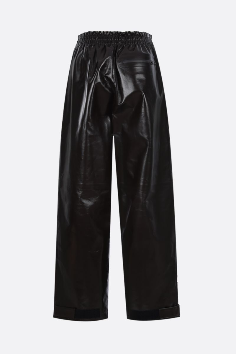 BOTTEGA VENETA: shiny leather wide-leg pants Color Brown_2