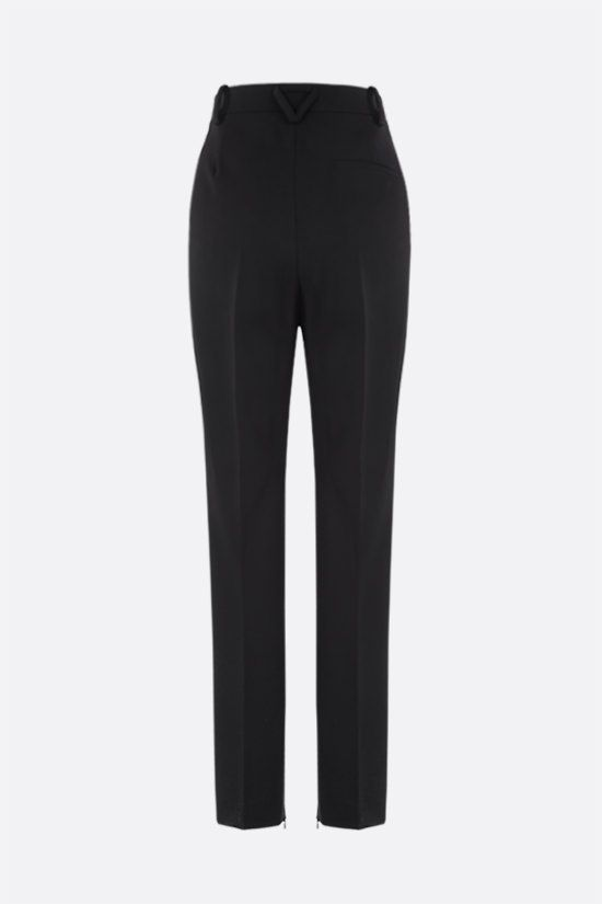 BOTTEGA VENETA: slim-fit technical wool pants Color Black_2