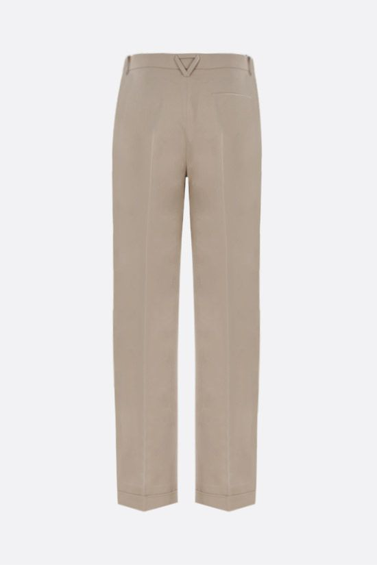 BOTTEGA VENETA: wide-leg cotton twill pants Color Neutral_2