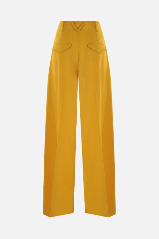 BOTTEGA VENETA: wide-leg wool gabardine pants Color Yellow_2