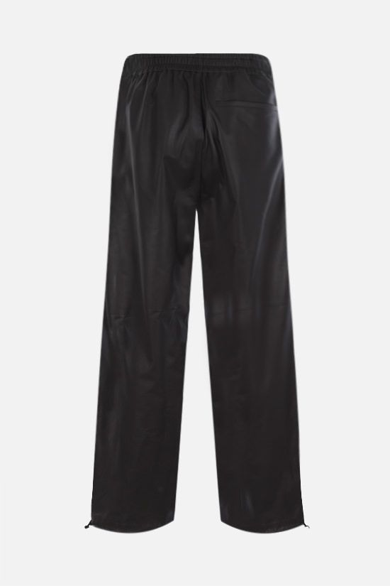BOTTEGA VENETA: matte leather joggers Color Brown_2