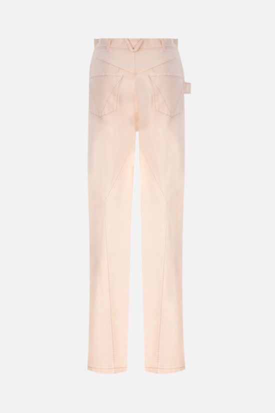 BOTTEGA VENETA: twill wide-leg pants Color Neutral_2