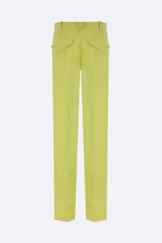 BOTTEGA VENETA: cotton straight-leg pants Color Green_2