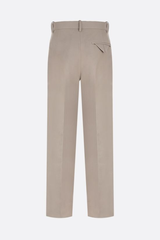BOTTEGA VENETA: regular-fit canvas pants Color Neutral_2