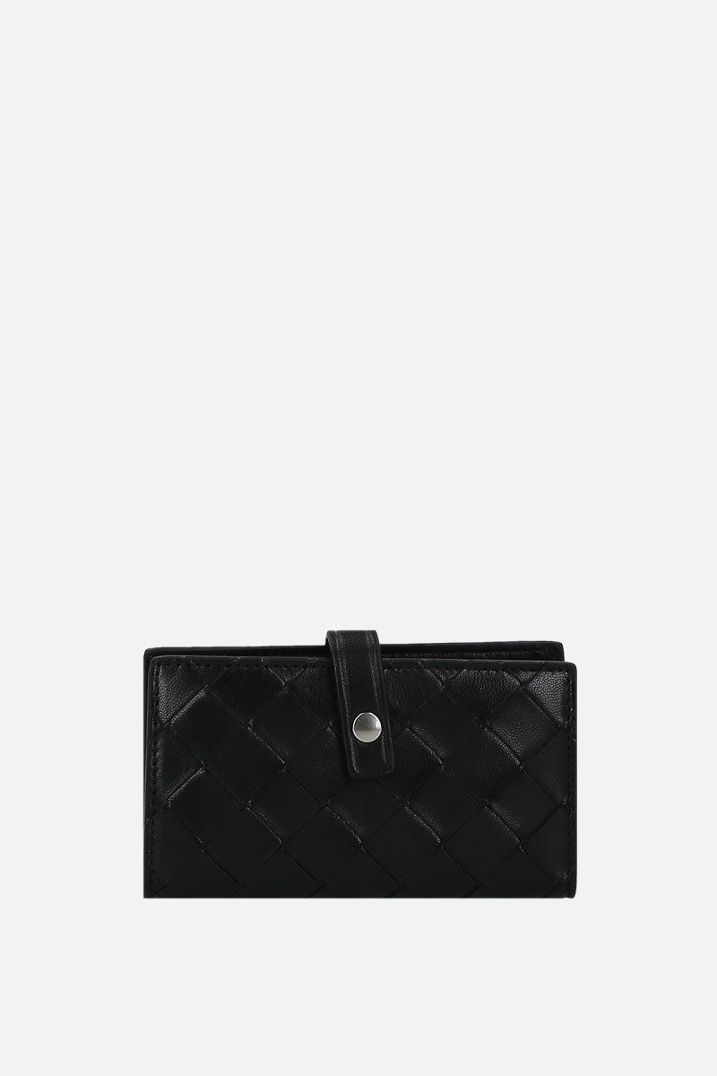 BOTTEGA VENETA: Intrecciato nappa key holder Color Black_1