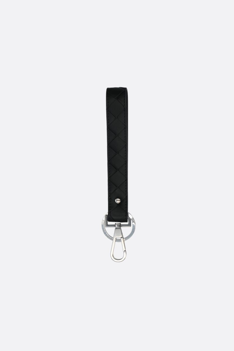 BOTTEGA VENETA: Intrecciato VN key holder Color Black_1