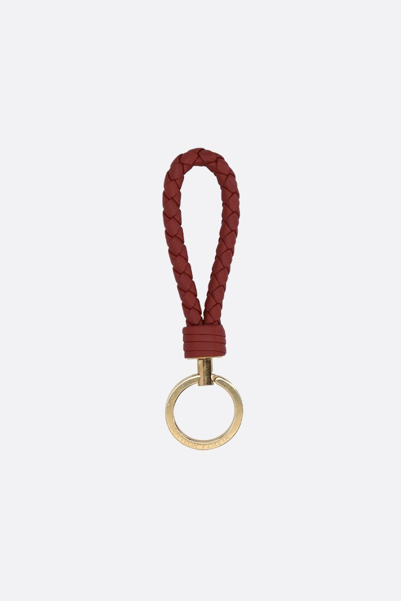 BOTTEGA VENETA: Intrecciato nappa key holder Color Red_1