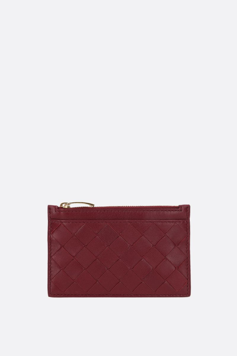 BOTTEGA VENETA: Maxi Intrecciato zipped key holder Color Red_1