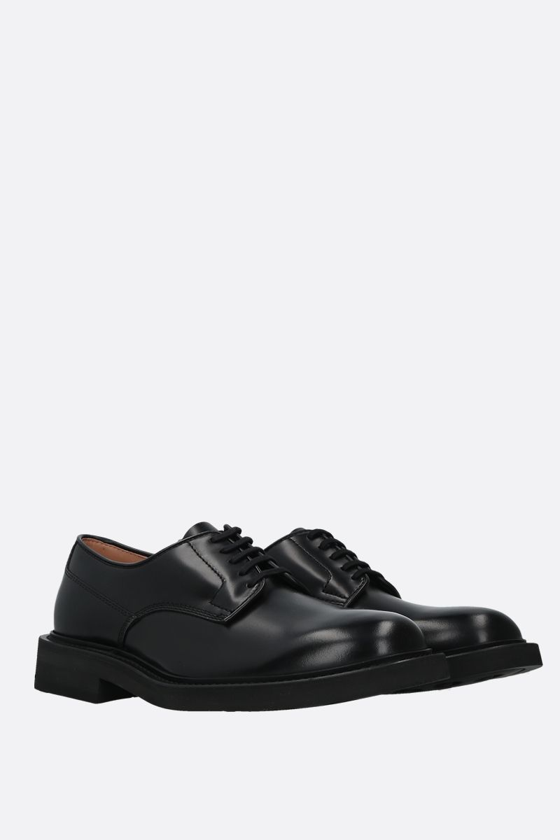 BOTTEGA VENETA: shiny leather derby shoes Color Black_2