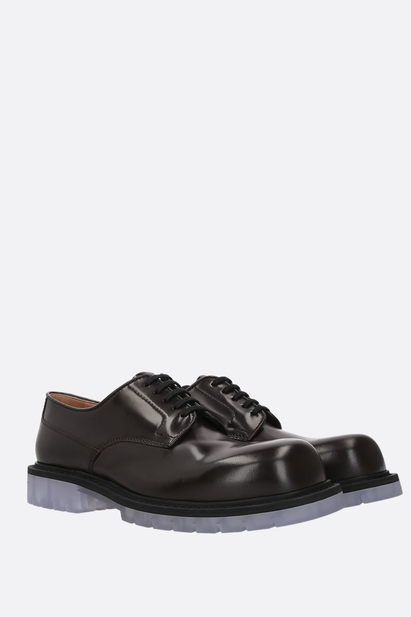 BOTTEGA VENETA: brushed calf derby shoes Color Brown_2