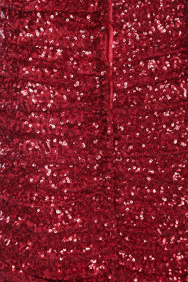 DOLCE & GABBANA: sequinned fishtail dress Color Red_4