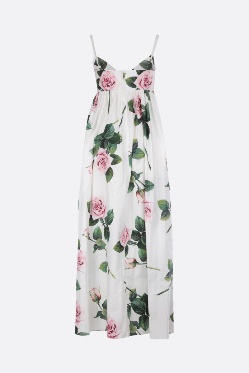 DOLCE & GABBANA: Tropical Rose print poplin maxi dress_2