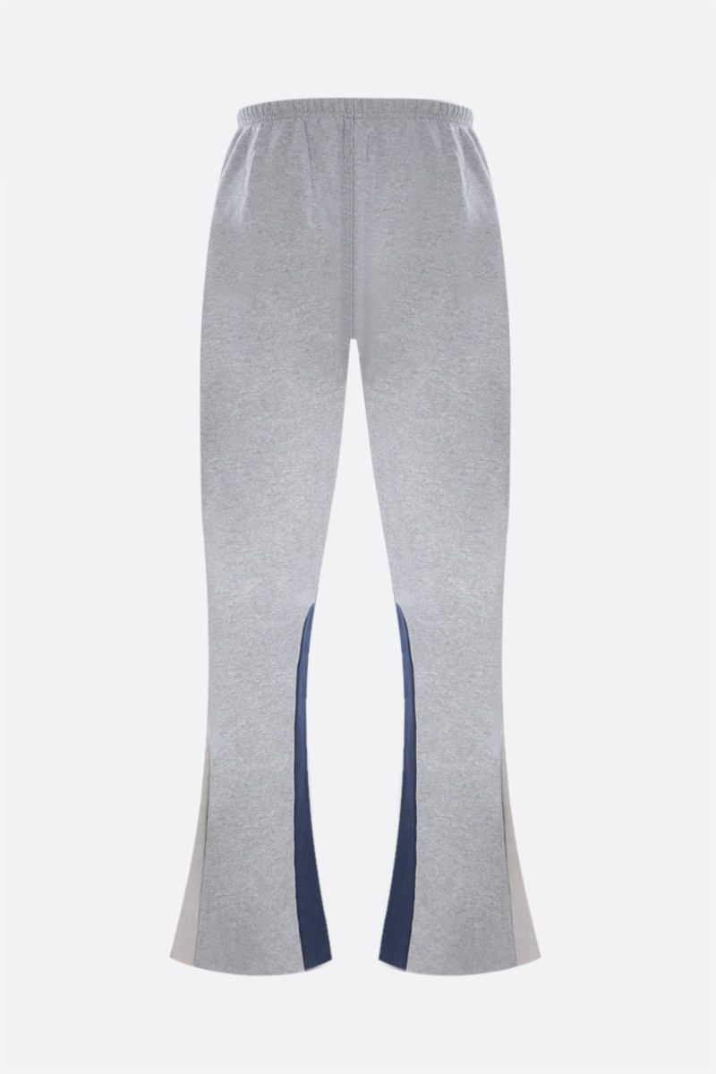 GALLERY DEPT: logo print flared cotton joggers Color Grey_2