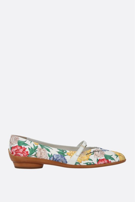 FERRAGAMO'S CREATIONS: Audrey twill ballerinas Color Multicolor_1