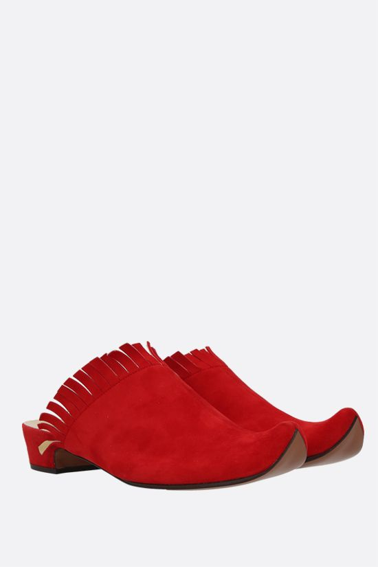 FERRAGAMO'S CREATIONS: Baghdad suede mules Color Red_2