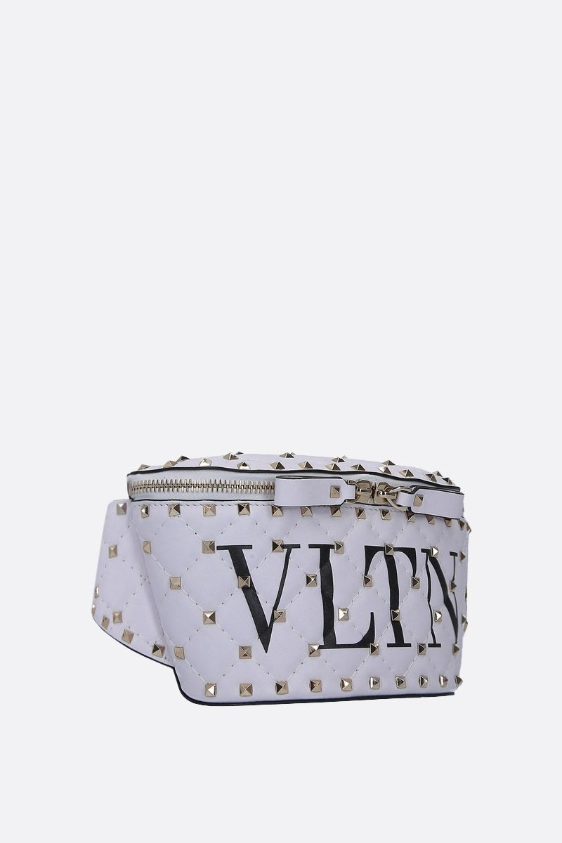 VALENTINO GARAVANI: Rockstud Spike.It VLTN belt bag in quilted nappa Color Multicolor_2