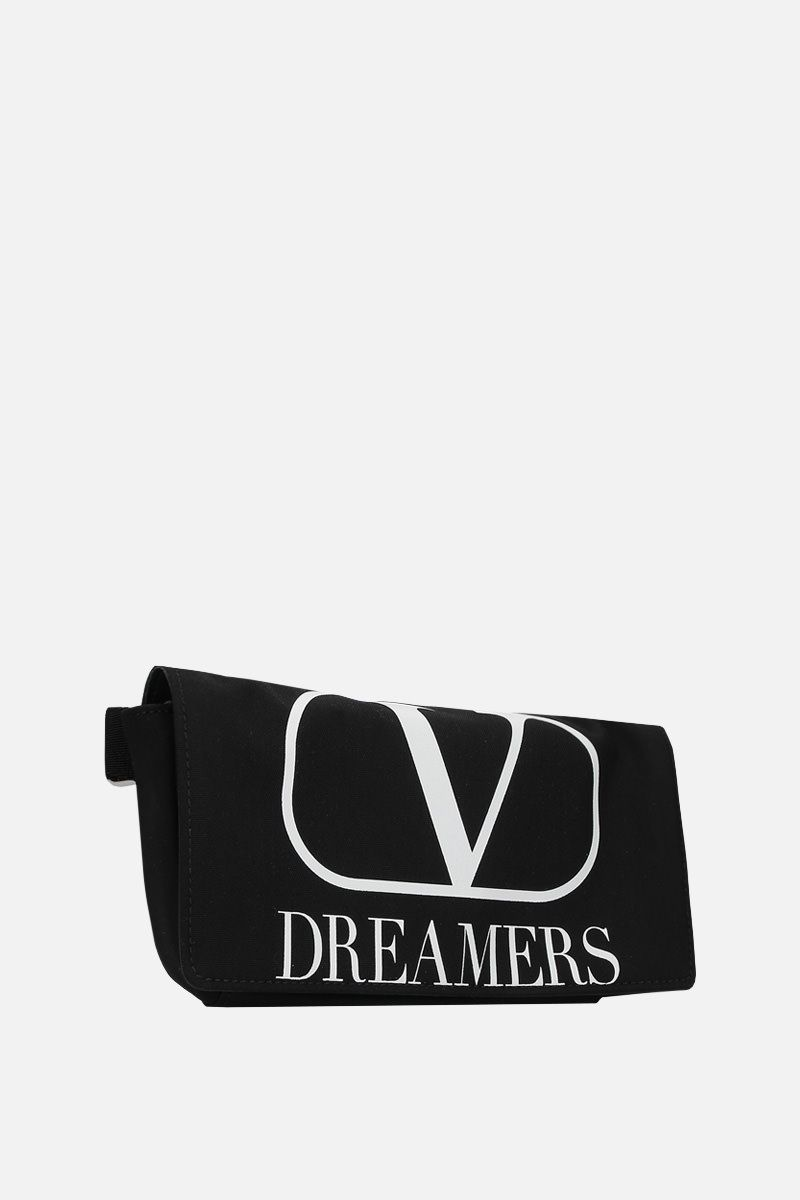 VALENTINO GARAVANI: VLOGO DREAMERS nylon belt bag Color Black_2