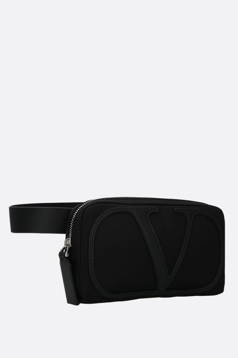 VALENTINO GARAVANI: VLOGO nylon belt bag Color Black_2