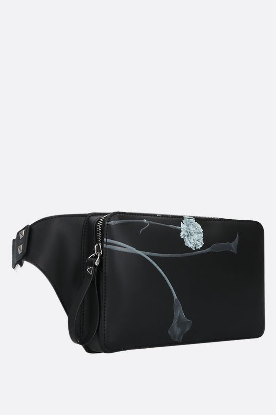 VALENTINO GARAVANI: Flowersity smooth leather belt bag Color Black_2