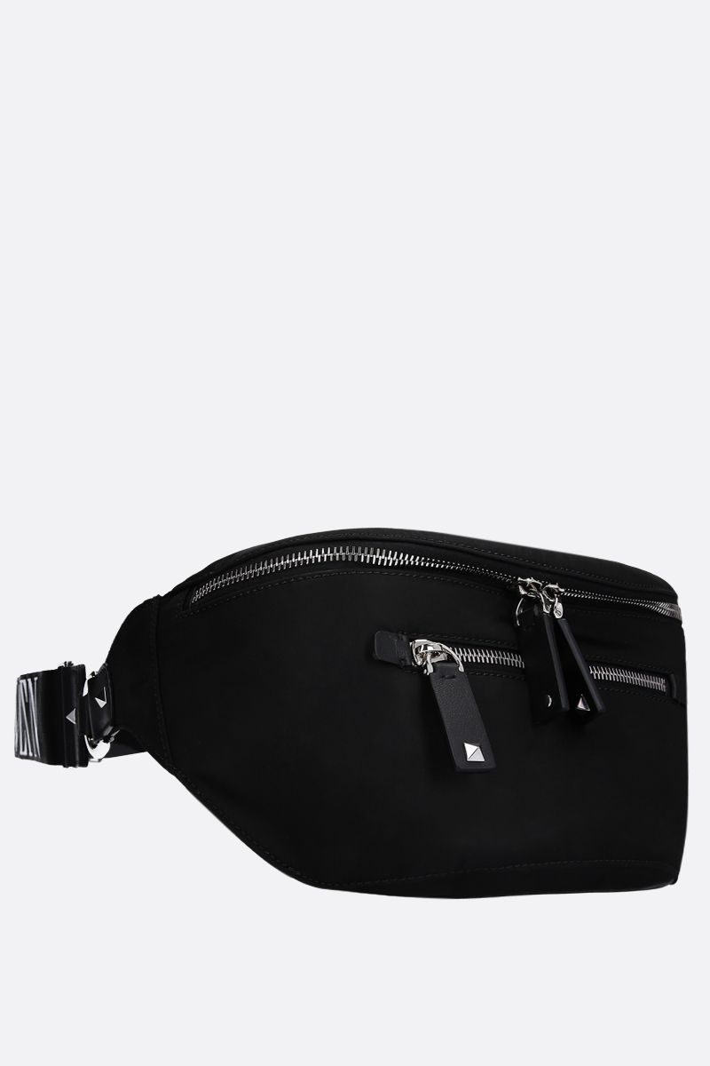 VALENTINO GARAVANI: VLTN nylon belt bag Color Black_2