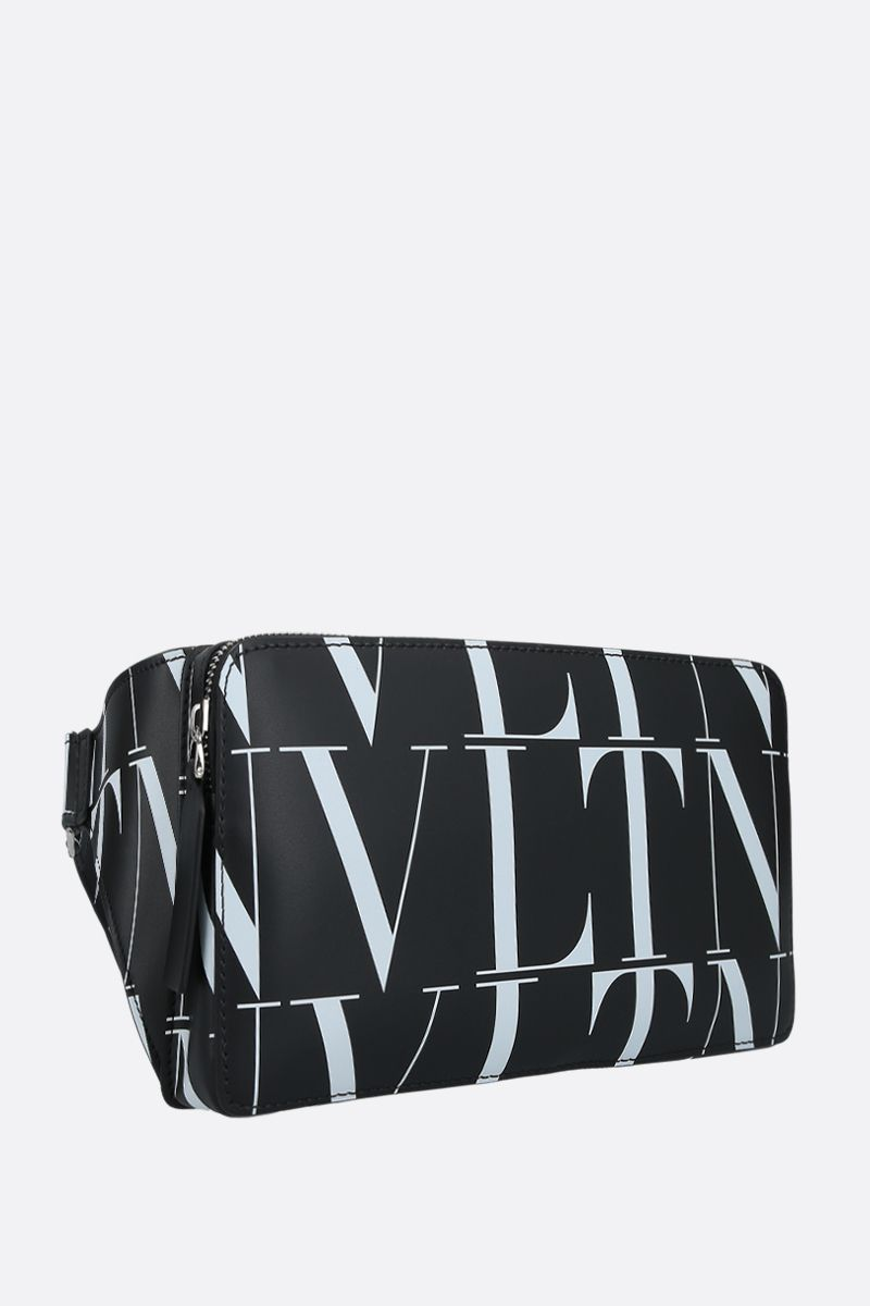 VALENTINO GARAVANI: VLTN smooth leather belt bag Color Black_2