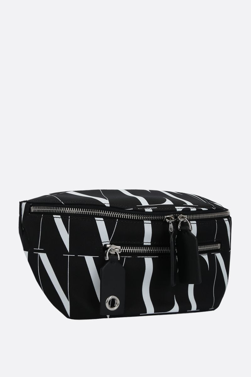VALENTINO GARAVANI: VLTN TIMES nylon belt bag Color Black_2