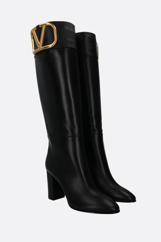 VALENTINO GARAVANI: Supervee smooth leather boots Color Black_2
