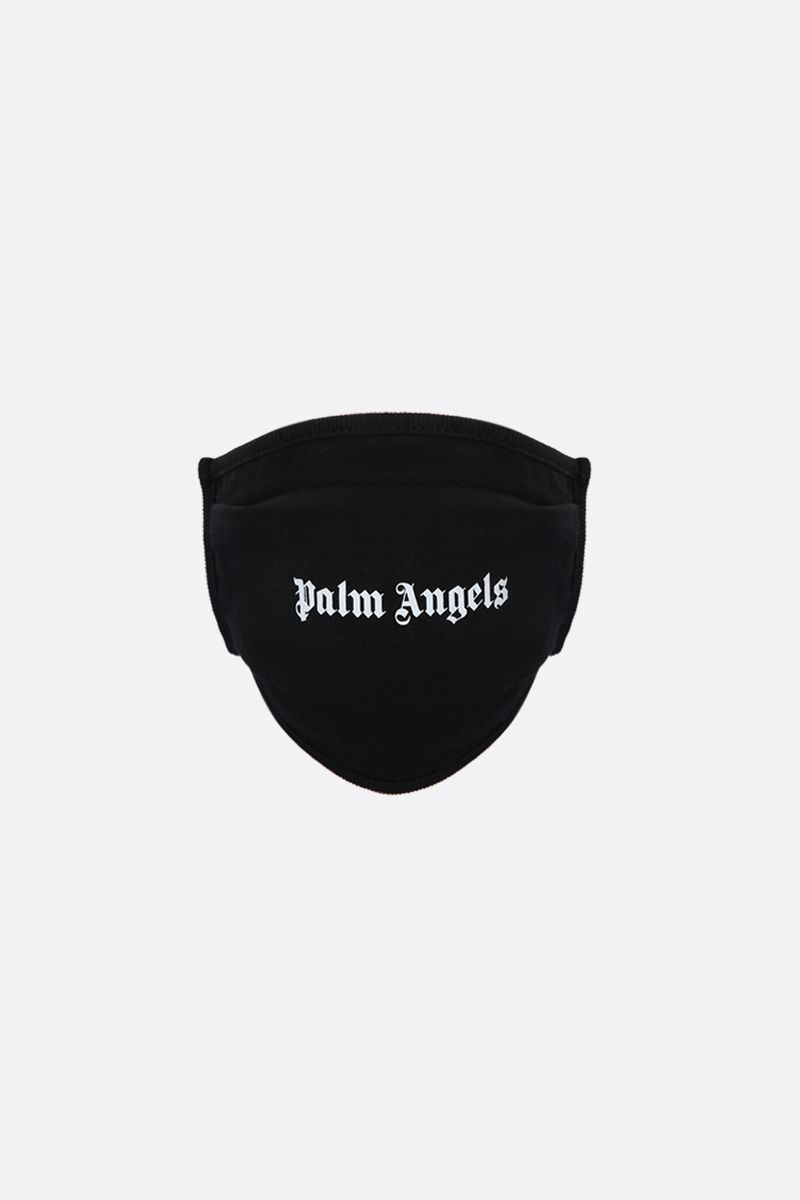 PALM ANGELS: Palm Angels print cotton face mask Color Black_1