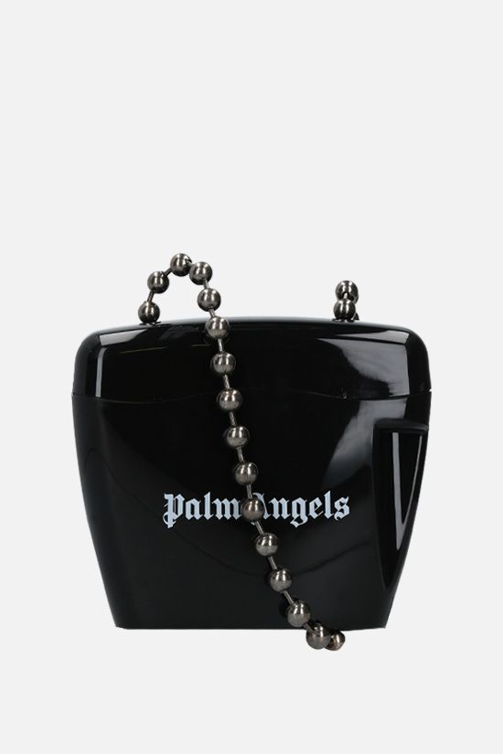 PALM ANGELS: Padlock mini poyipropylene crossbody bag Color Black_1