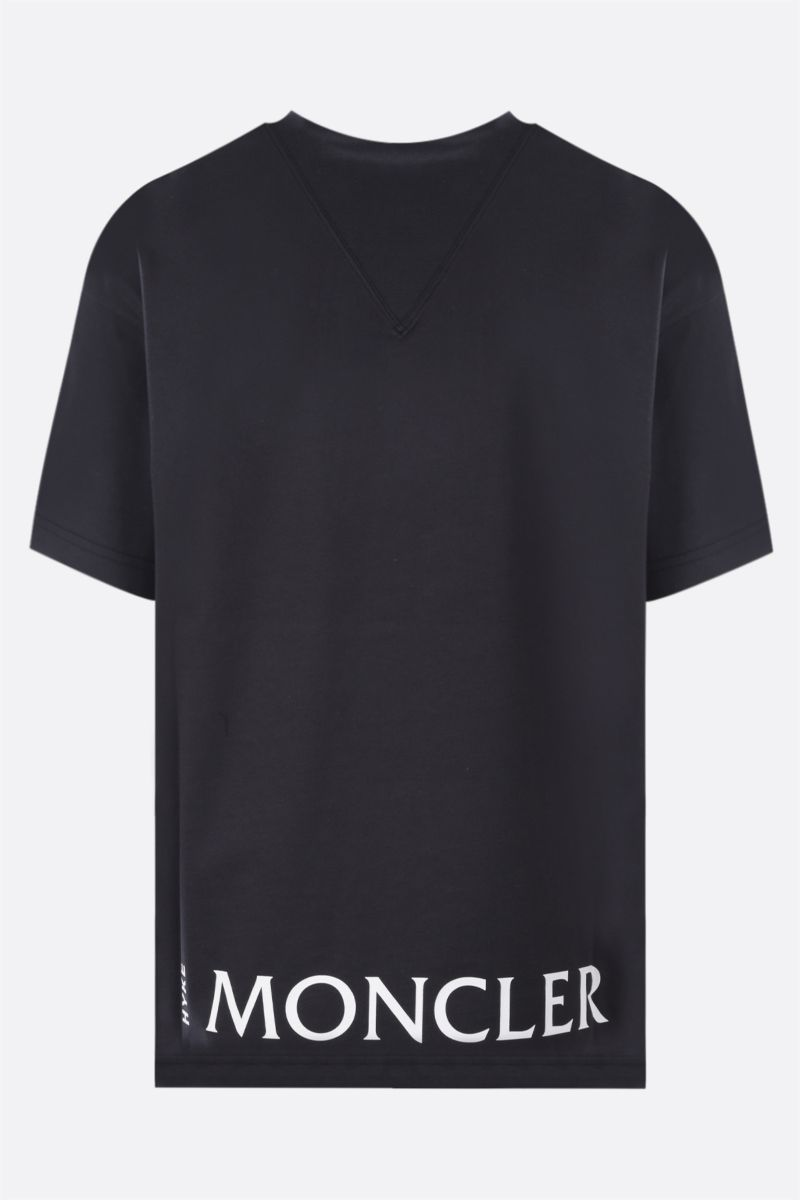 MONCLER GENIUS: t-shirt in cotone stampa logo Colore Blue_2