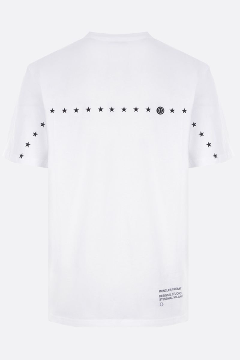 MONCLER GENIUS: t-shirt in cotone stampa logo Colore White_2