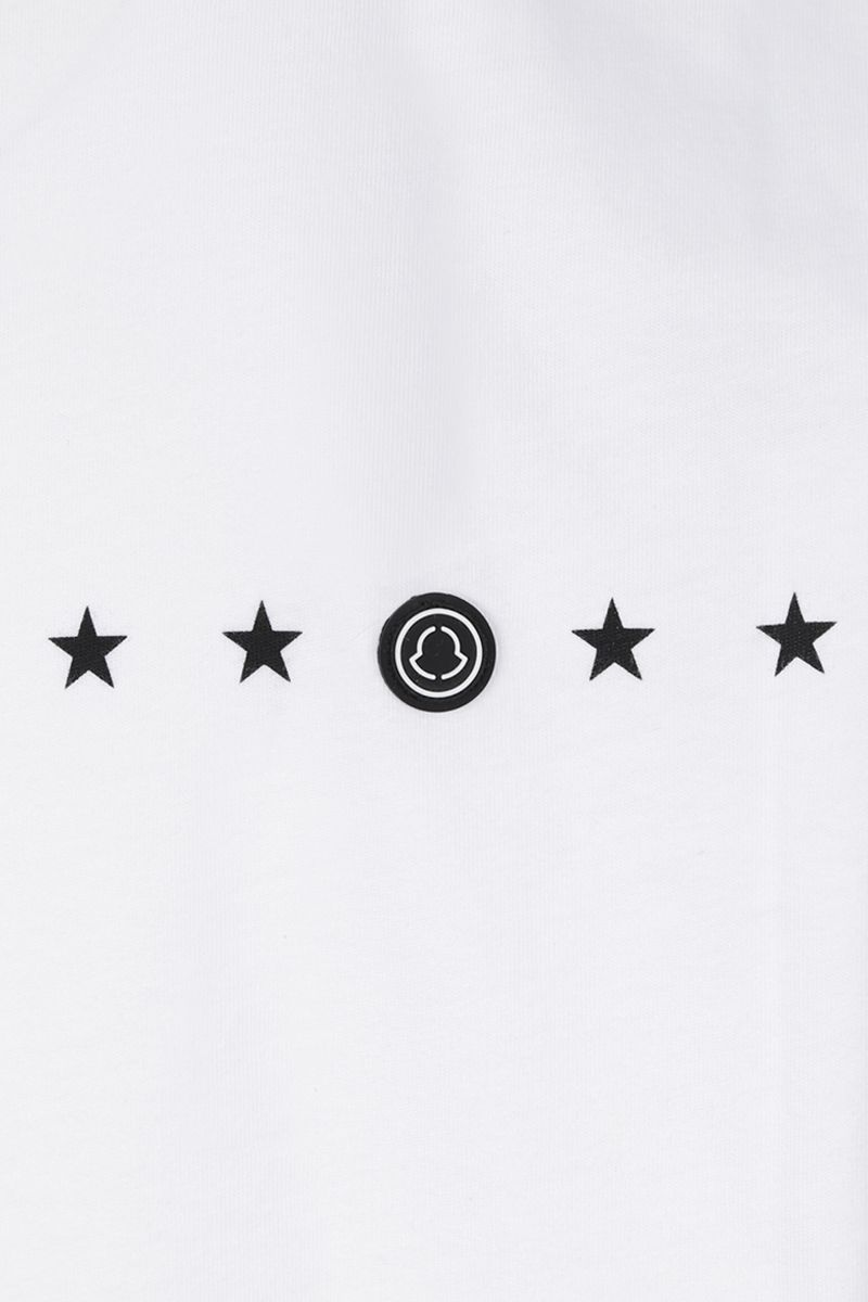 MONCLER GENIUS: t-shirt in cotone stampa logo Colore White_3