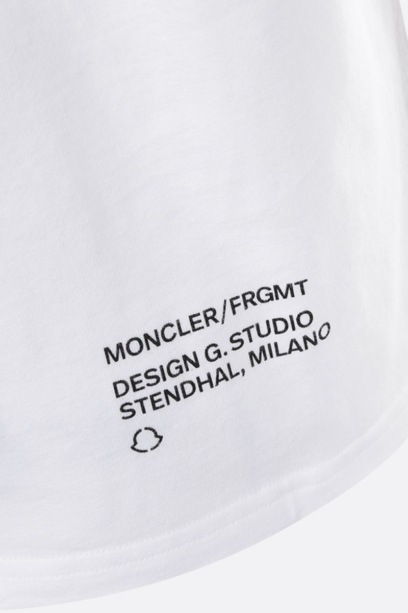 MONCLER GENIUS: t-shirt in cotone stampa logo Colore White_4