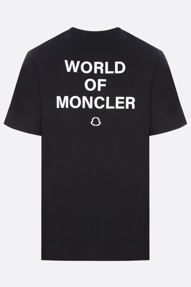 MONCLER GENIUS: t-shirt in cotone stampa WOM Colore Black_2