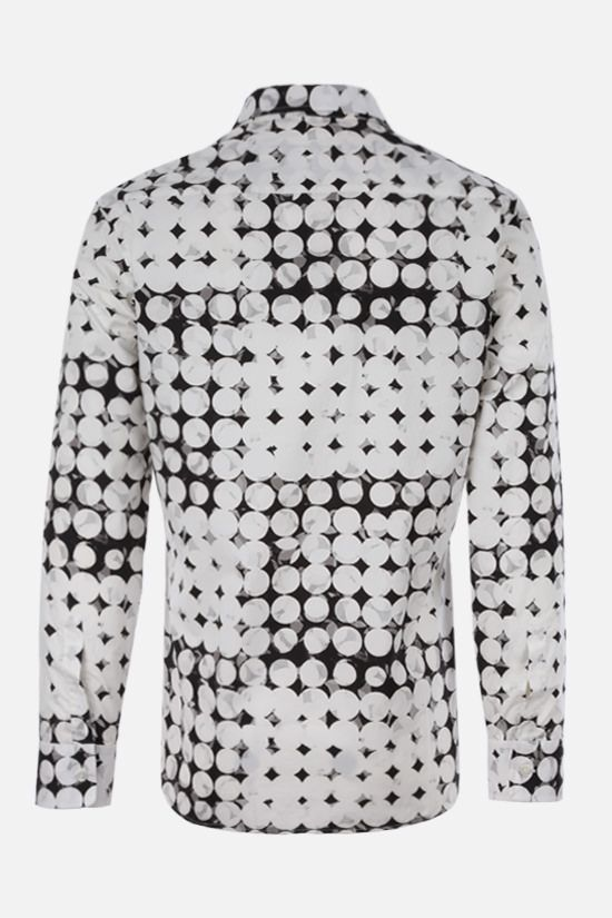 MAISON MARGIELA: pixel polka dots print cotton shirt Color White_2