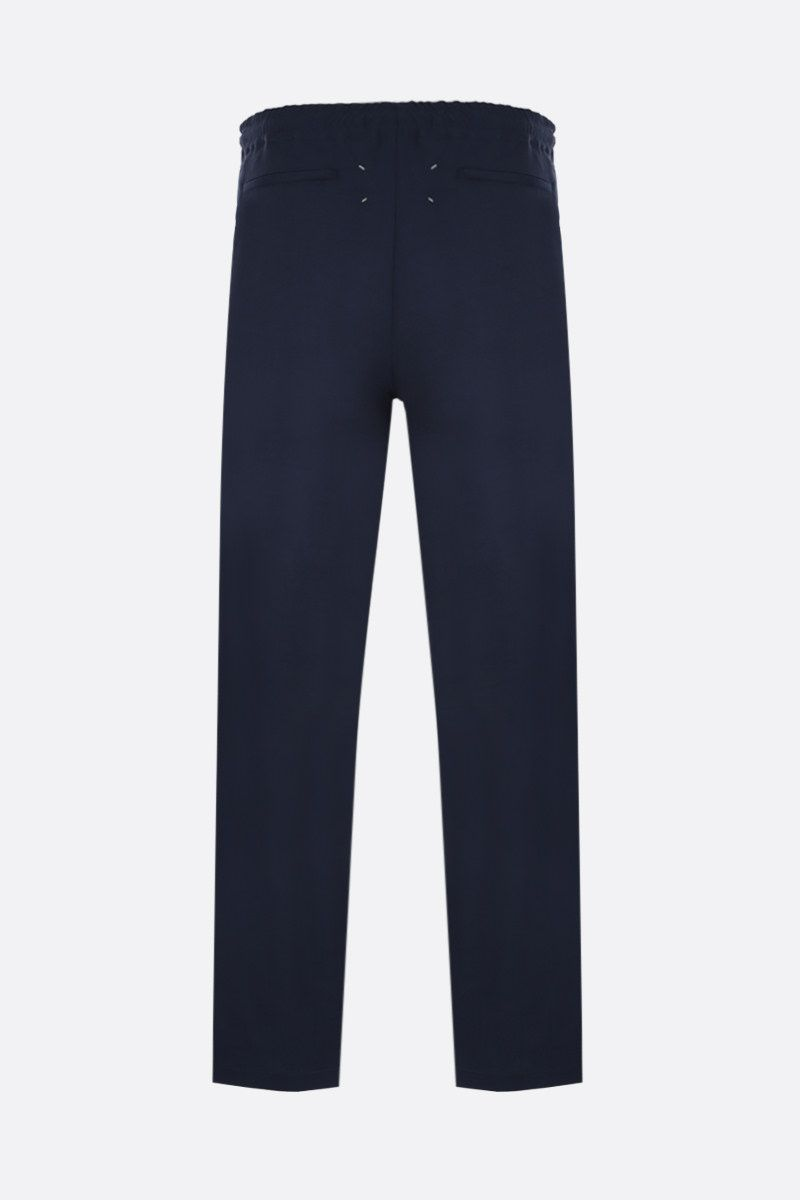 MAISON MARGIELA: wool regular-fit pants Color Blue_2