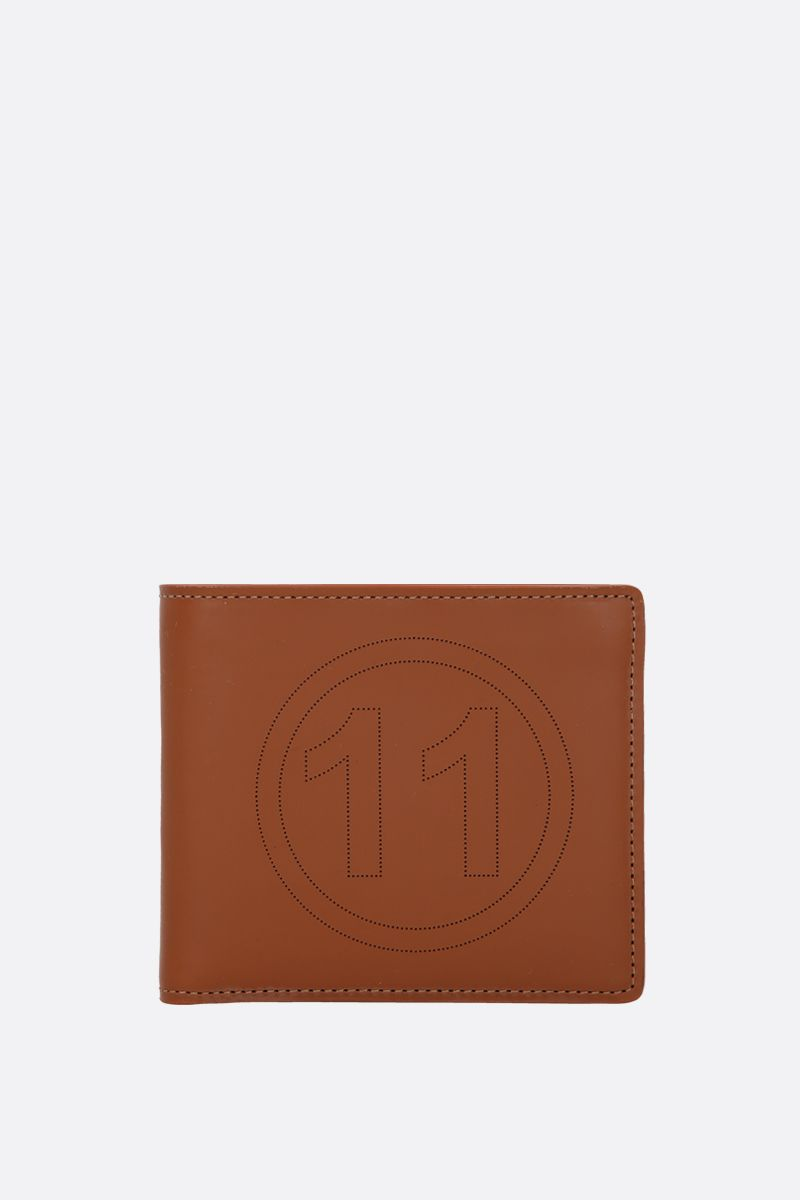 MAISON MARGIELA: smooth leather billfold wallet Color Brown_1