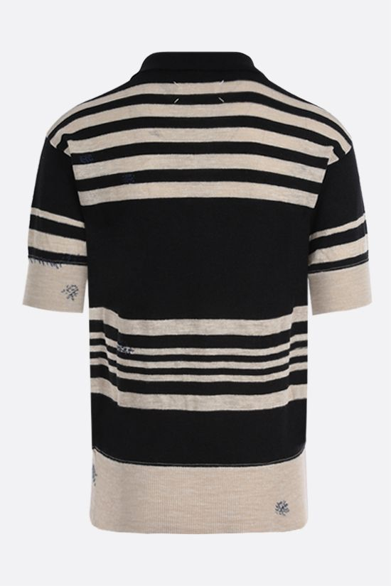 MAISON MARGIELA: wool linen blend short-sleeved pullover_2