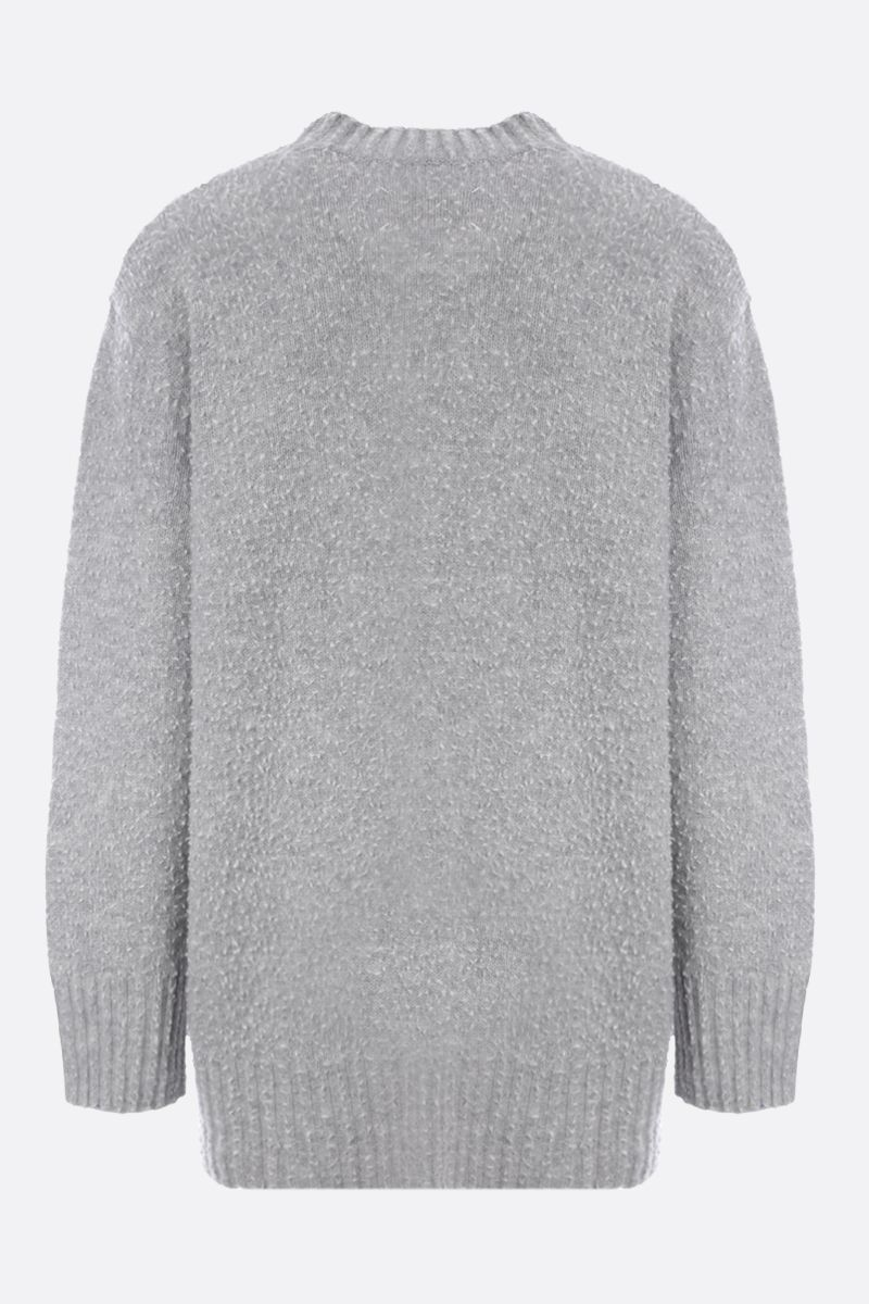 MAISON MARGIELA: textured wool oversize pullover Color Grey_2